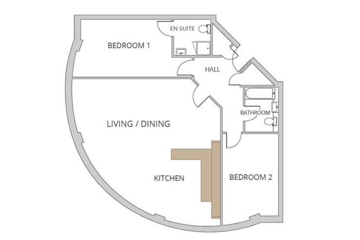 Corner Two Bedroom Apartment